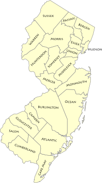 A clickable New Jersey county map